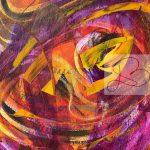 Fantaisie violette 9X12-PA1401